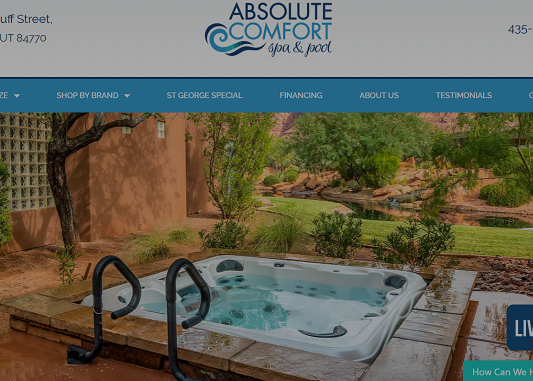 seo website design absolute comfort case study