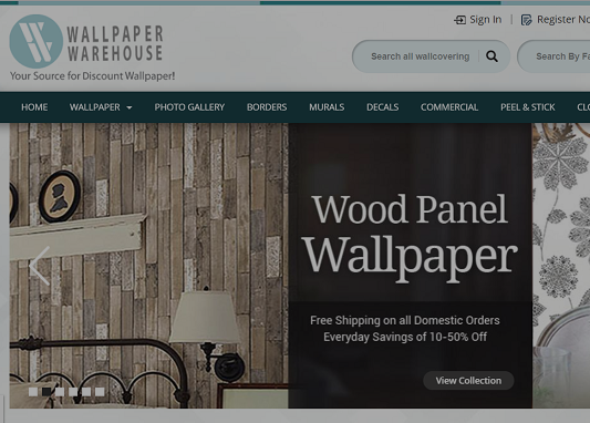 website design SEO ads wallpaper warehouse case study